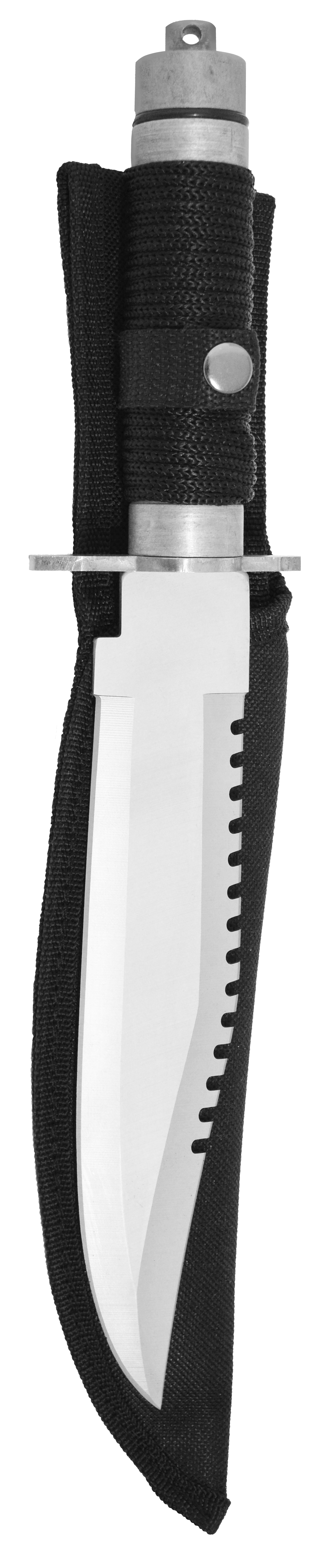Zenport Survival Knife 14036 Hunting Survival Knife, 8-Inch Stainless Steel Blade, Paracord Grip, Compass, Nylon Sheath