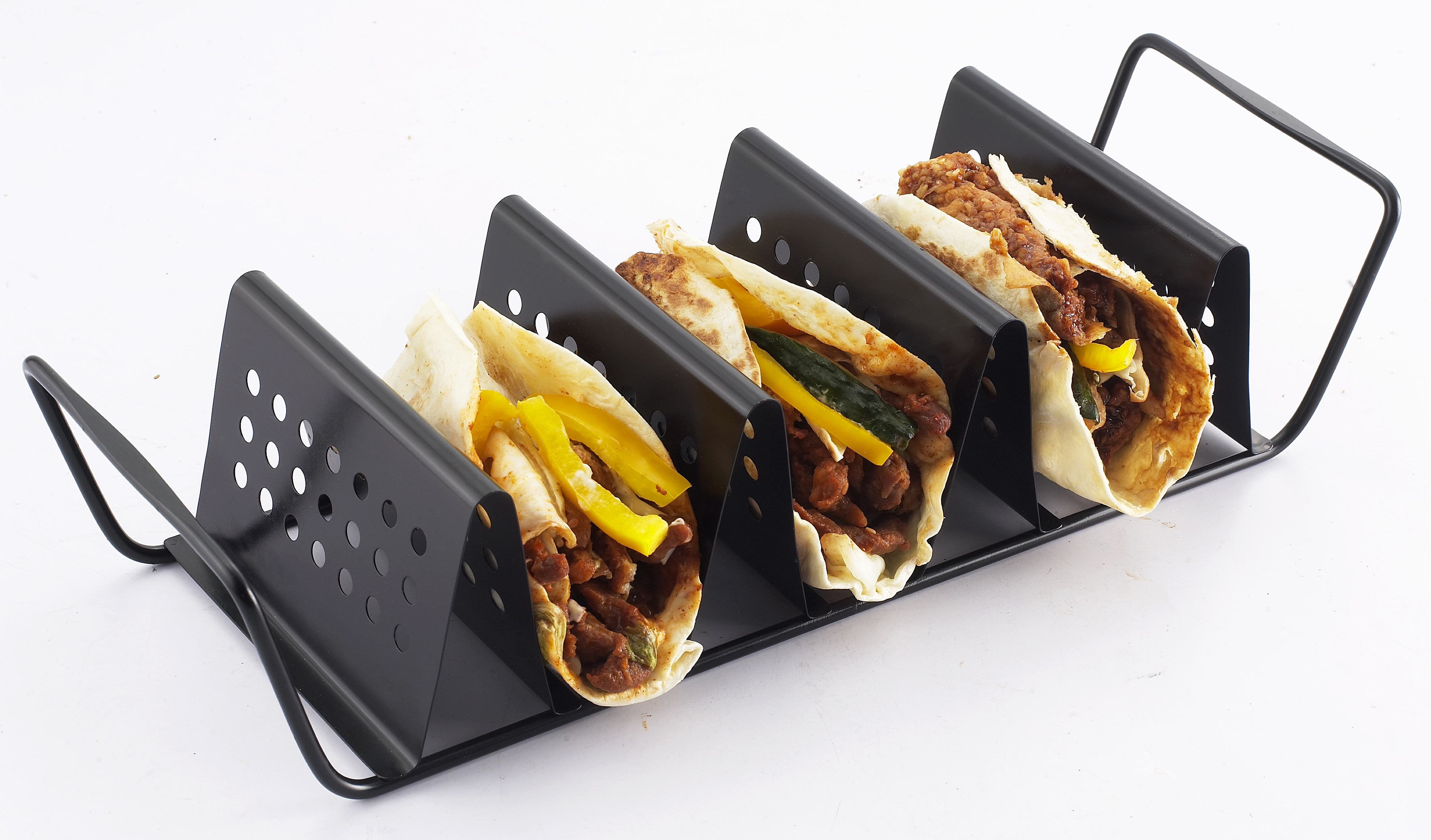ZenUrban 870015 3-Taco Cooking Grill Rack, Nonstick