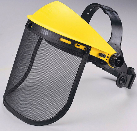 Zenport FS825 Adjustable Wire Mesh Visor Face Shield, Protective Face Wear