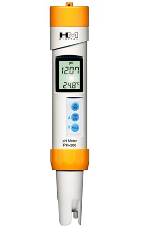 Zenport PH-200 Water pH Testing Meter, Waterproof, Measure 0-14 pH, Temperature Tester, IP-67 rating, Factory Calibrated