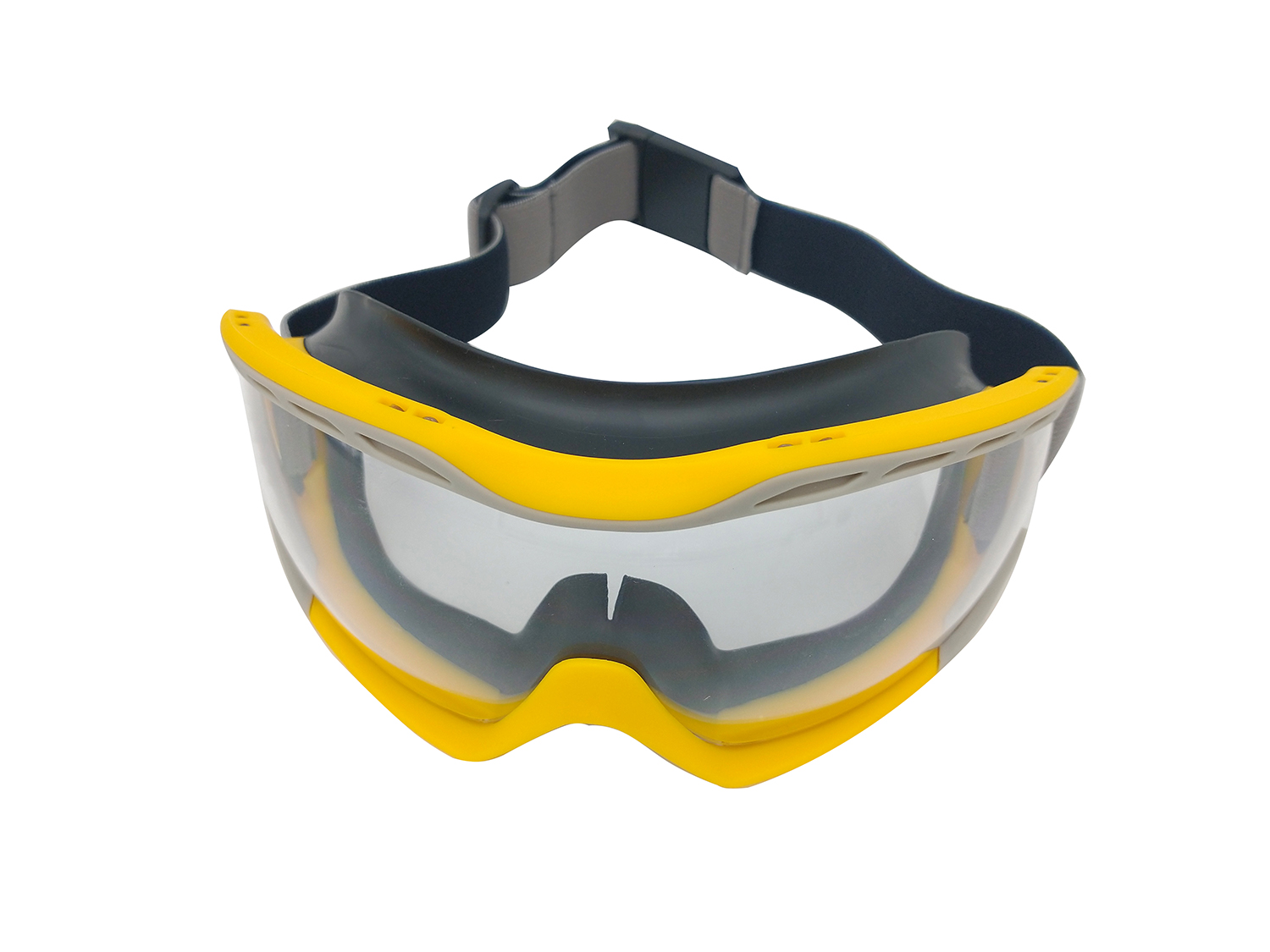 Zenport Safety Goggles SG274-12PK Box of 12 Clear Lens, Flex Seal, Yellow