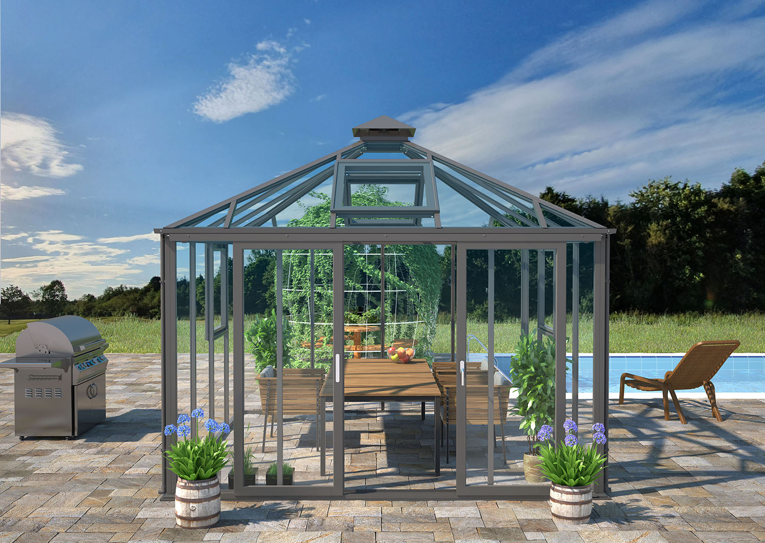 Zenport Babylon Sunroom SH10Z1, 10.5 X 10.5-Foot