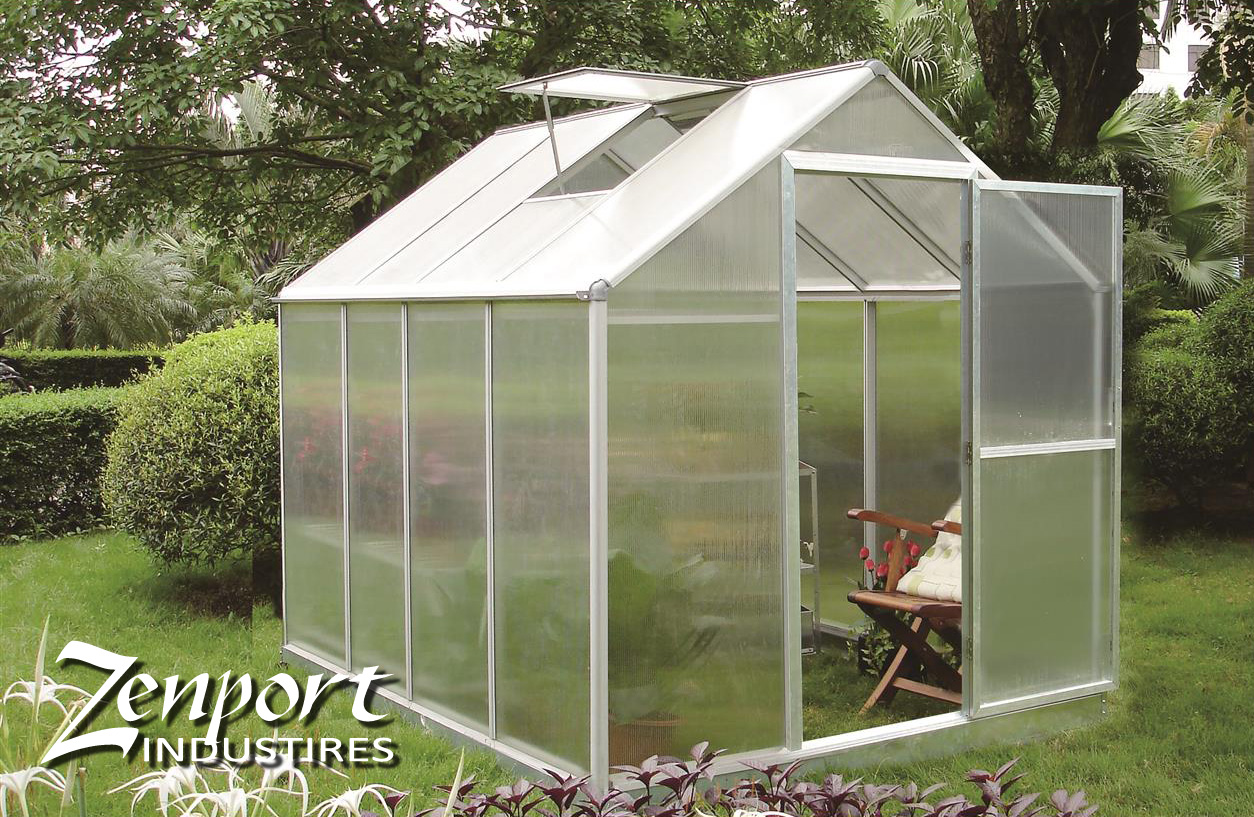 Zenport Walk-In Greenhouse Base SH7901-BASE 262 x 198 x 205CM Aluminum Frame