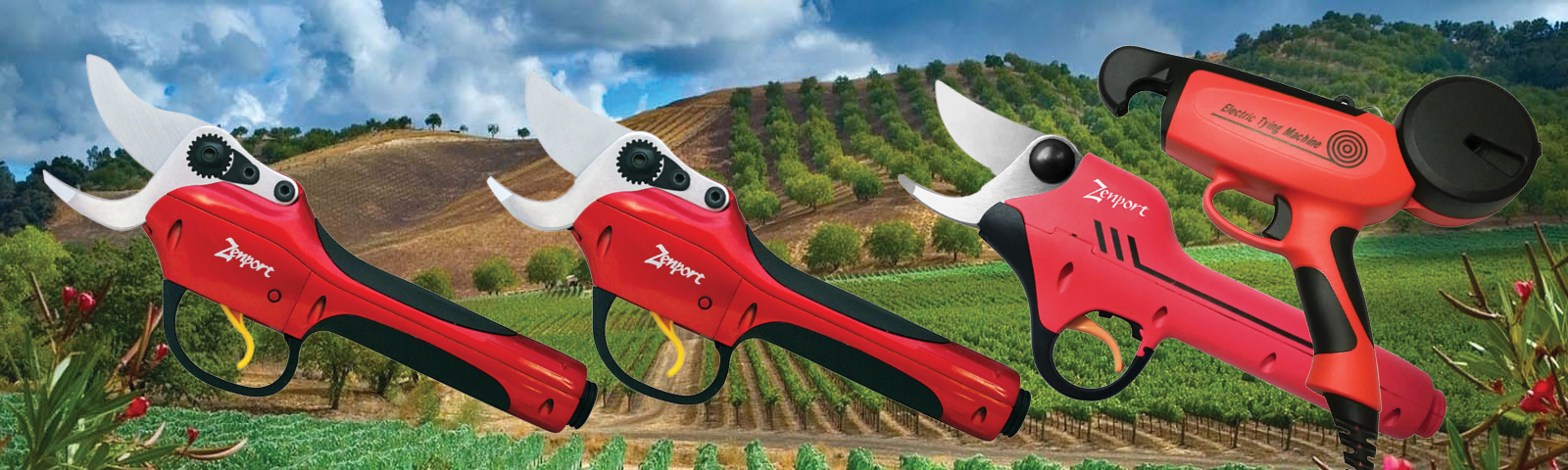 Battery Powered Pruning and Tying Tools