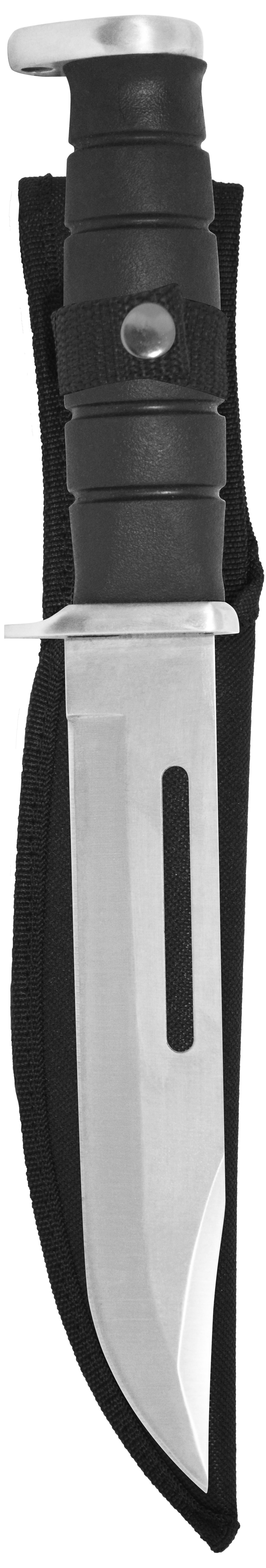 Knife 14087 Bowie Knife, 7-Inch Stainless Steel Blade, Rubber Grip, Nylon Sheath