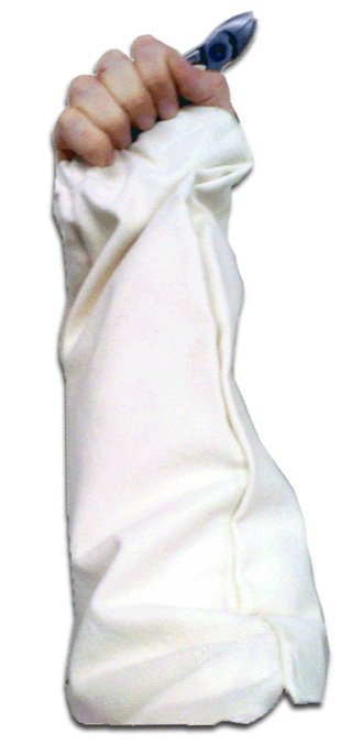 Zenport Picking Sleeves AG4020 White Canvas Fruit Picking Sleeves, Protective Armwear, 1-Pair