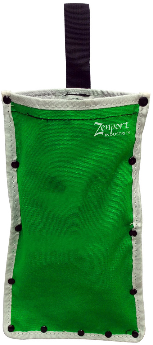 Zenport AG4024 Celery Harvest Knife Sheath, Heavy Duty Green Canvas Single Pocket Pouch, 6 1/2 X 11-Inches