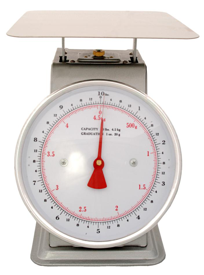 Scale AZD10 Mechanical Platform Dial Scale, 10 Pound, For weighing fruits and vegetables