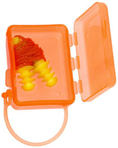 Zenport EP565 Ear Plugs Easy-Fit Pair in Orange Case, Ear Protection