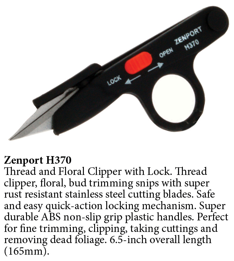 Zenport Shears H370 Thread and Floral Clipper with Lock, Flower Trimming Scissors