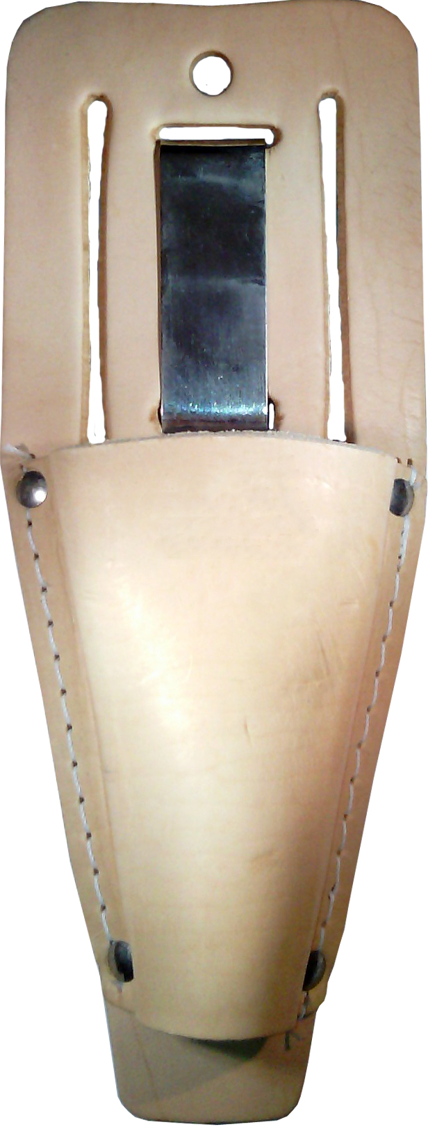 Holster HJ262 Leather Pruner Sheath w/Belt Loop and Metal Clip for Pruners / Folding Saws