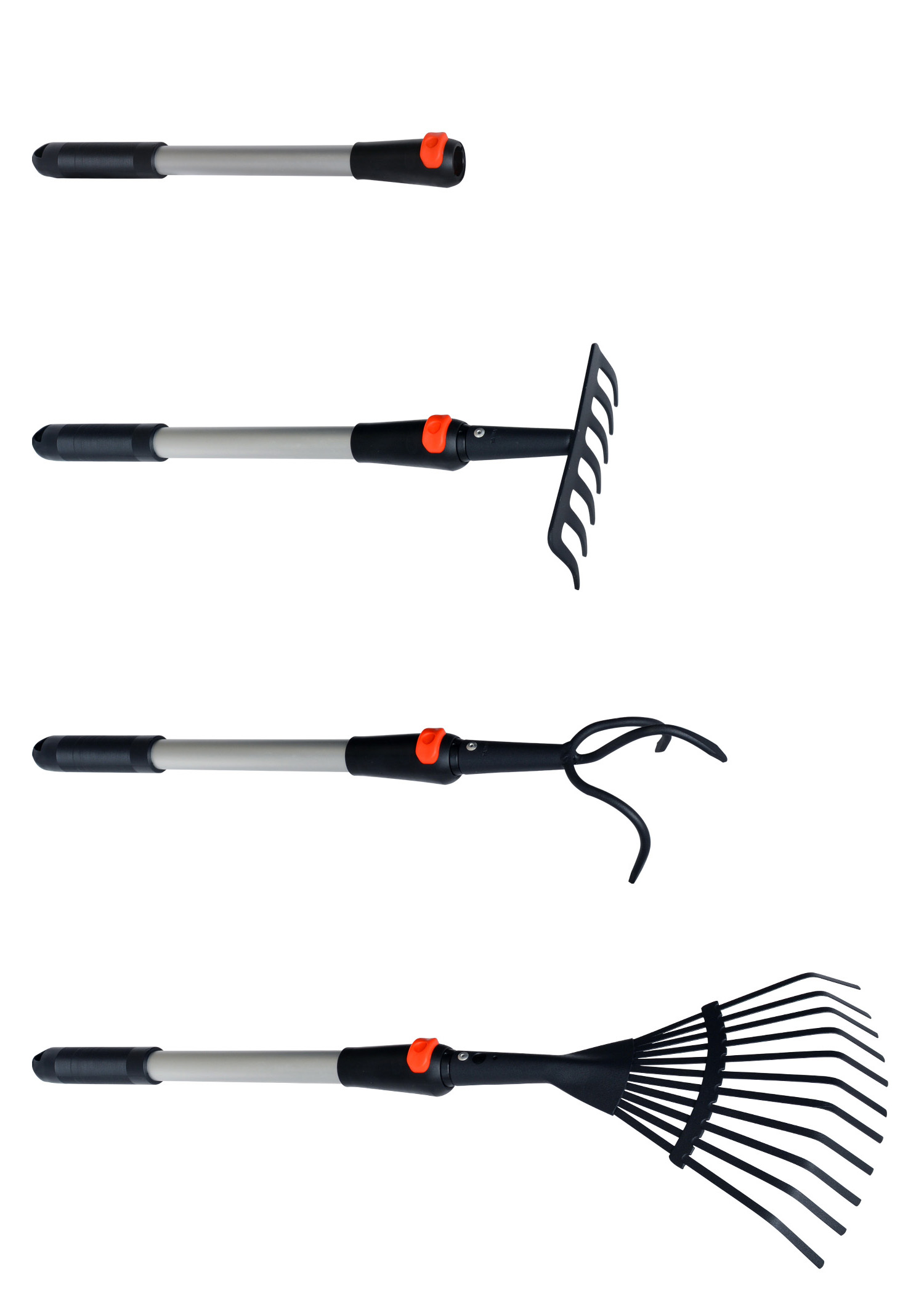 Zenport Garden Multi Tool Bundle J0016-K1 Cultivator and Rake Garden Multi Tool, Includes J0113 J1110 J4007
