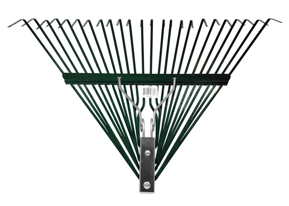 Leaf Rake Head Only J2424 with Deluxe Spring Heavy Duty 24-Tine