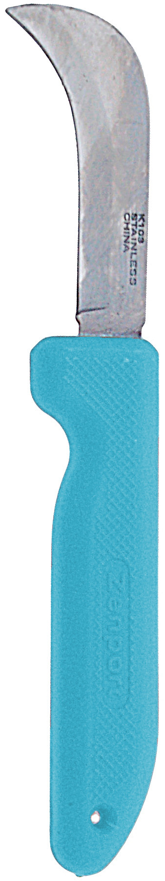Zenport Sod/Mushroom Knife K103-BLUE Harvest Utility Knife, 3-Inch Straight Stainless Steel Non-Serrated Blade