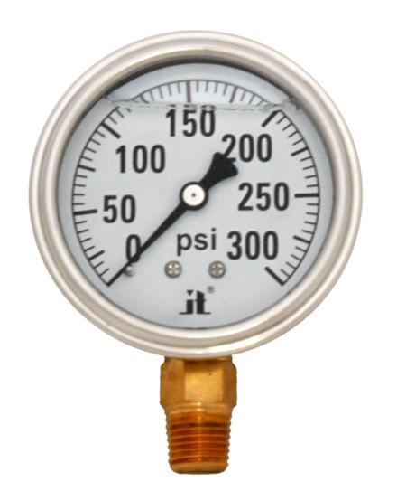 Pressure Gauge LPG300 Liquid Glycerin Filled Pressure Gauge, 0-300 Psi