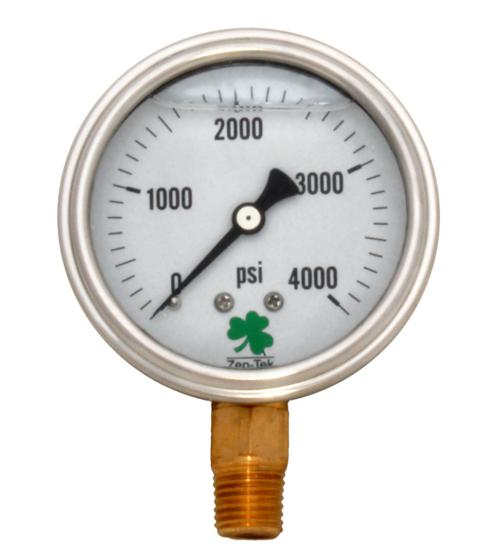 Pressure Gauge LPG4000 Liquid Glycerin Filled Pressure Gauge 0-4000 Psi