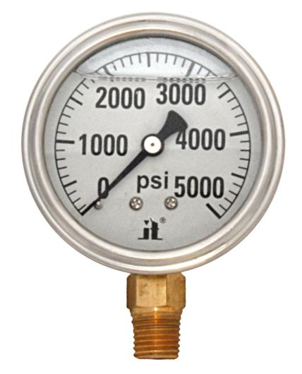Pressure Gauge LPG5000 Liquid Glycerin Filled Pressure Gauge 0-5000 Psi