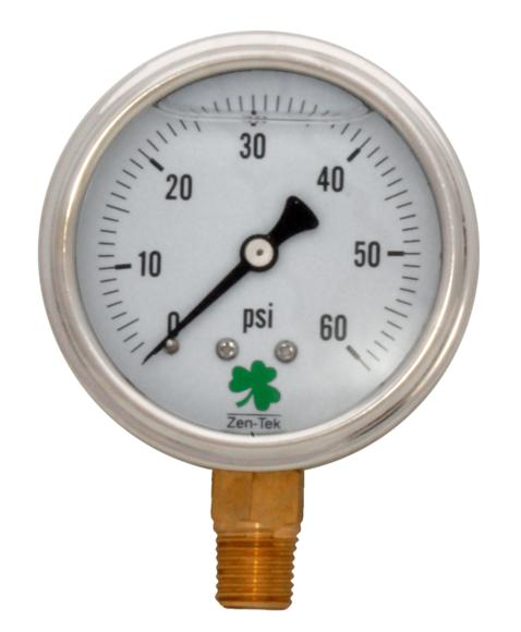 Pressure Gauge LPG60 Liquid Glycerin Filled Pressure Gauge, 0-60 Psi