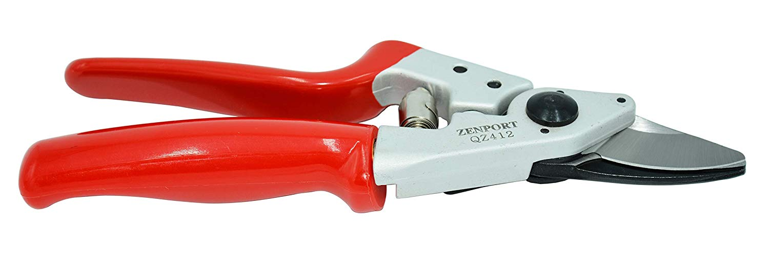 Zenport Pruner QZ412 BOX OF 10, Small Rotating Handle Professional, .8-Inch Cut, 7.25-Inch Long