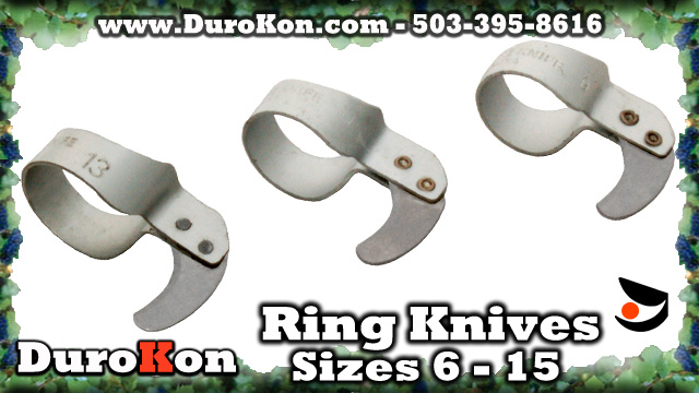 Ring Knives: Handy for Cutting Twine, Boxes, Tape, Film, Harvest with Finger