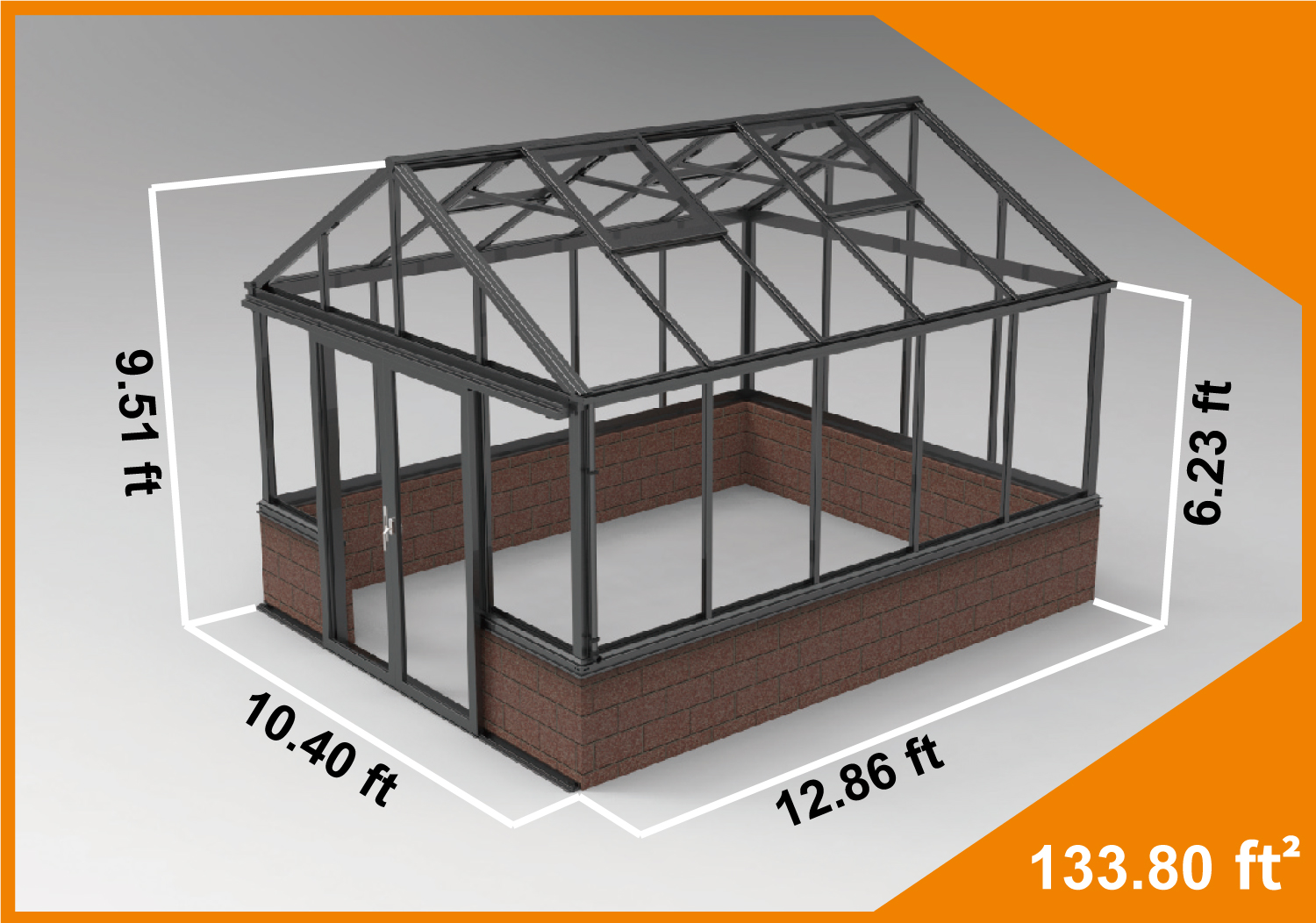 Zenport Villandry Sunroom SH10A1C, 12.9 X 10.5-Foot
