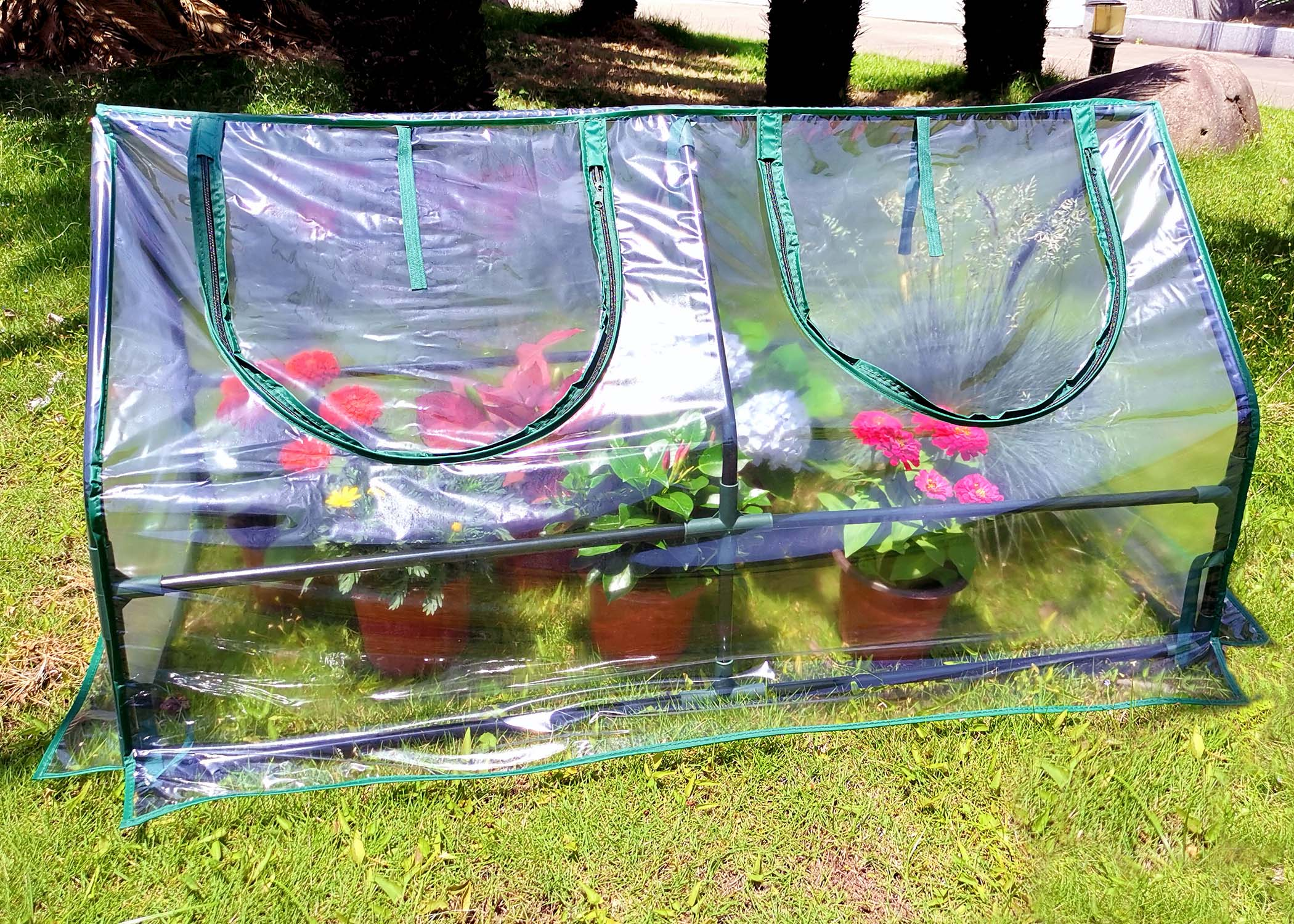 Mini Greenhouse SH3212A Garden Cold Frame Greenhouse Cloche for Easy Access Protected Gardening