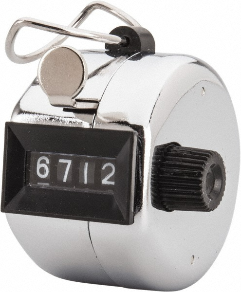 Zenport TCI22 Tally Counter, Hand Held Counter, 4 Digit Manual Mechanical Click Counter