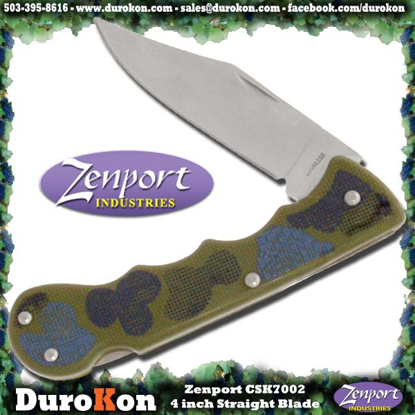 Zenport Folding Knife CSK7002 4-Inch Straight Blade Folding Knife