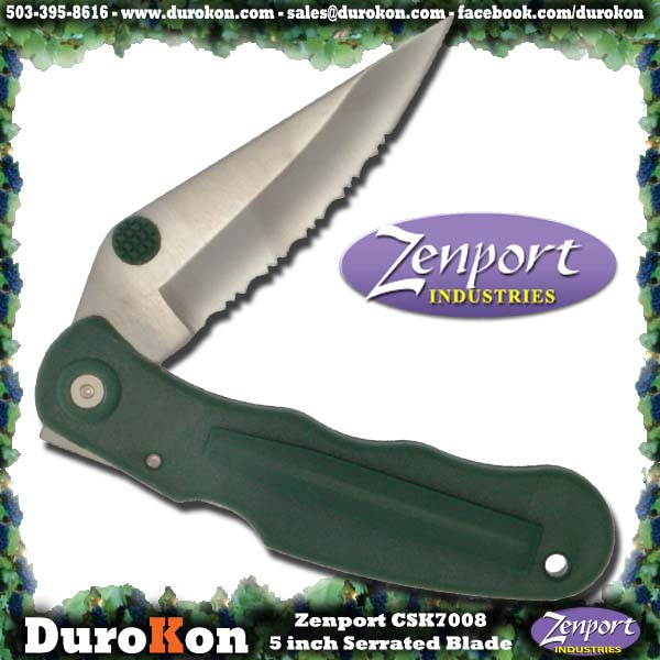 "Zenport Folding Knife Cuchillo, 5 "", plegable, con filo."