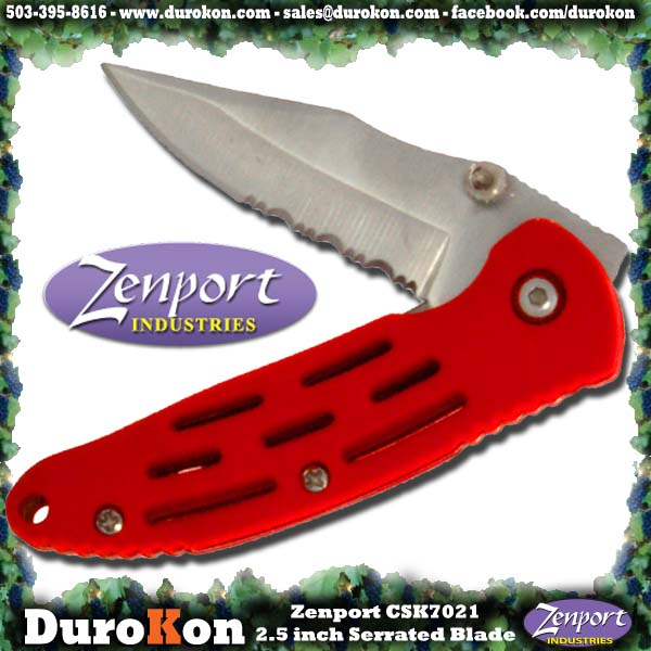 Zenport Folding Knife CSK7021 Knife 2.5 inch Folding Crusader Deluxe