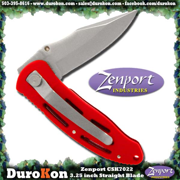 "Zenport Folding Knife Cuchillo, 3.25 "", cruzado plegable Deluxe."