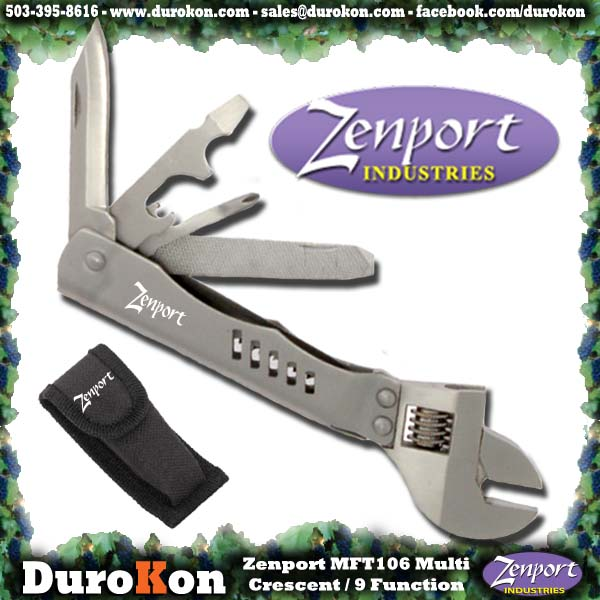 Zenport Multi-Tool MFT106 Crescent Wrench 9-Function Multi-Tool
