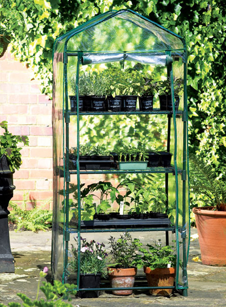 Zenport Mini Greenhouse SH3205 for Protected Patio, Balcony Plant Growing and Gardening