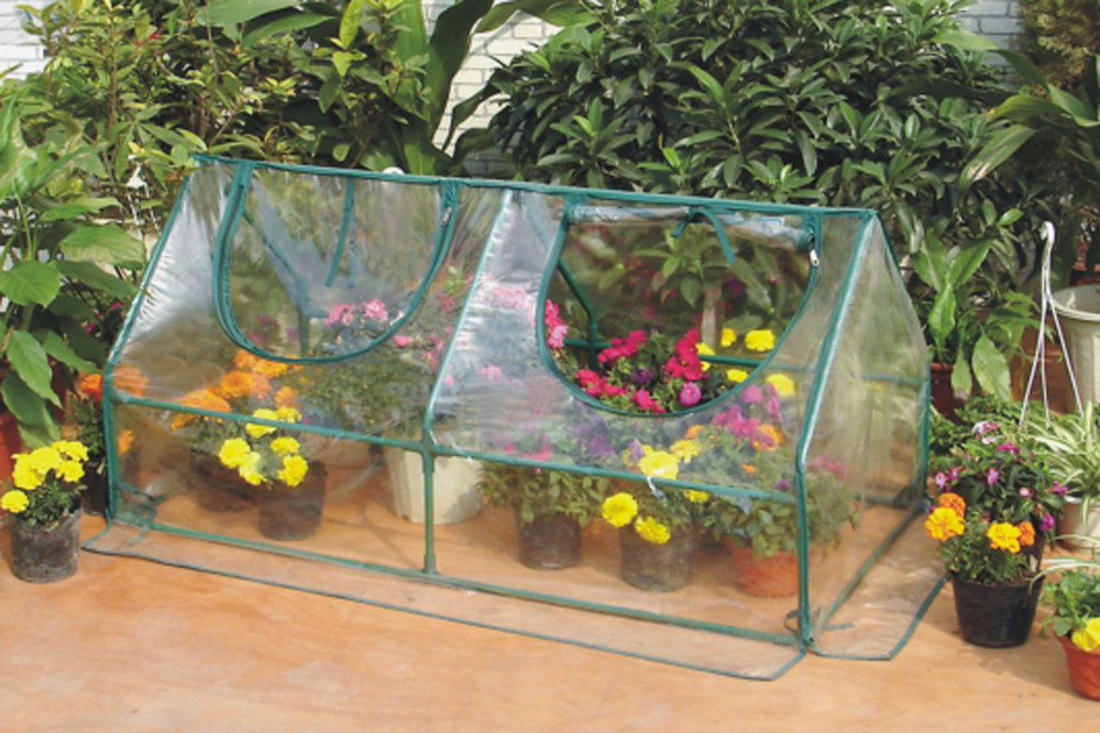Zenport Mini Greenhouse SH3212A Garden Cold Frame Greenhouse Cloche For Easy Access Protected Gardening