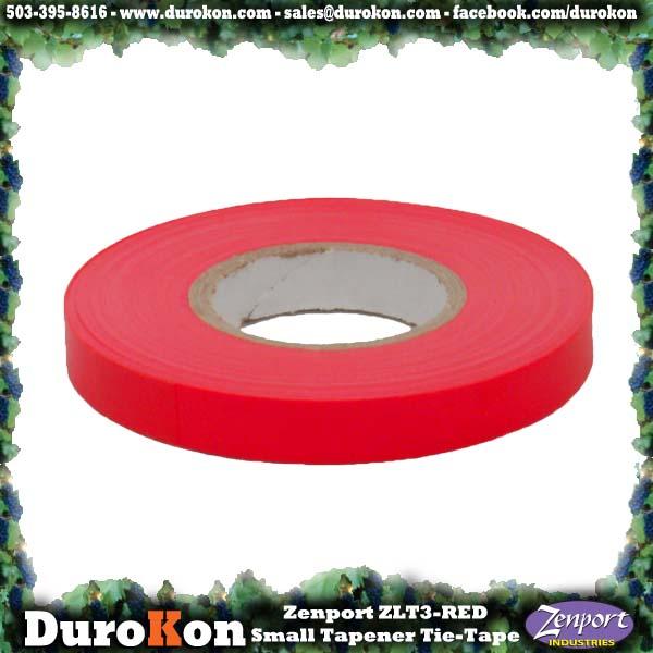 Zenport Tie Tape ZL0012R Small Tapener Red Plant Tie Tape, 50-Feet, 6-MIL (ZL99/MAX HTB)