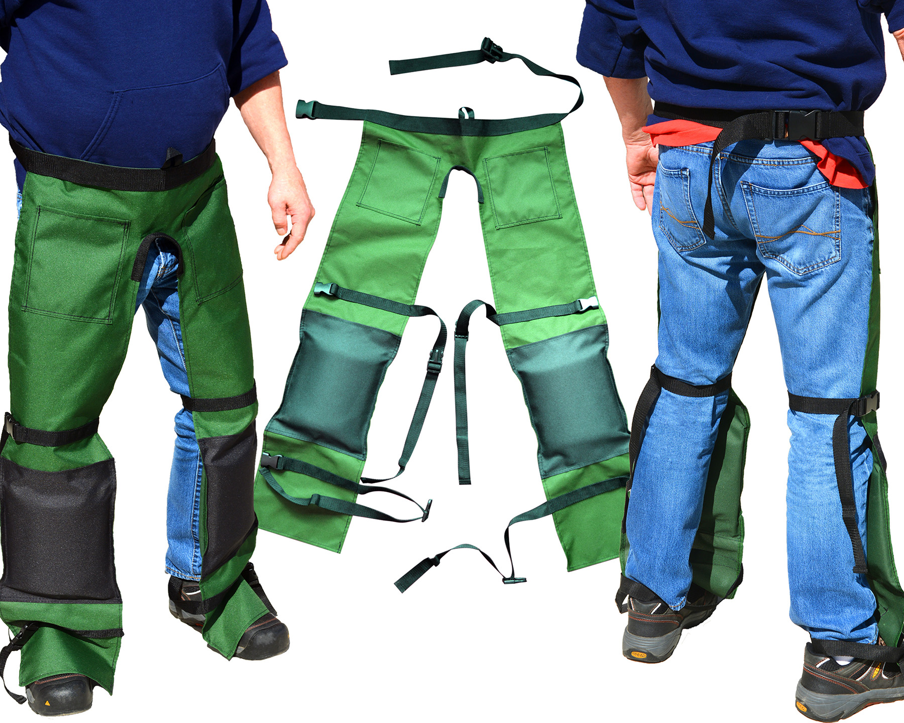 Zenport Safety Chaps AGC1 Protective Workwear, Forest Green