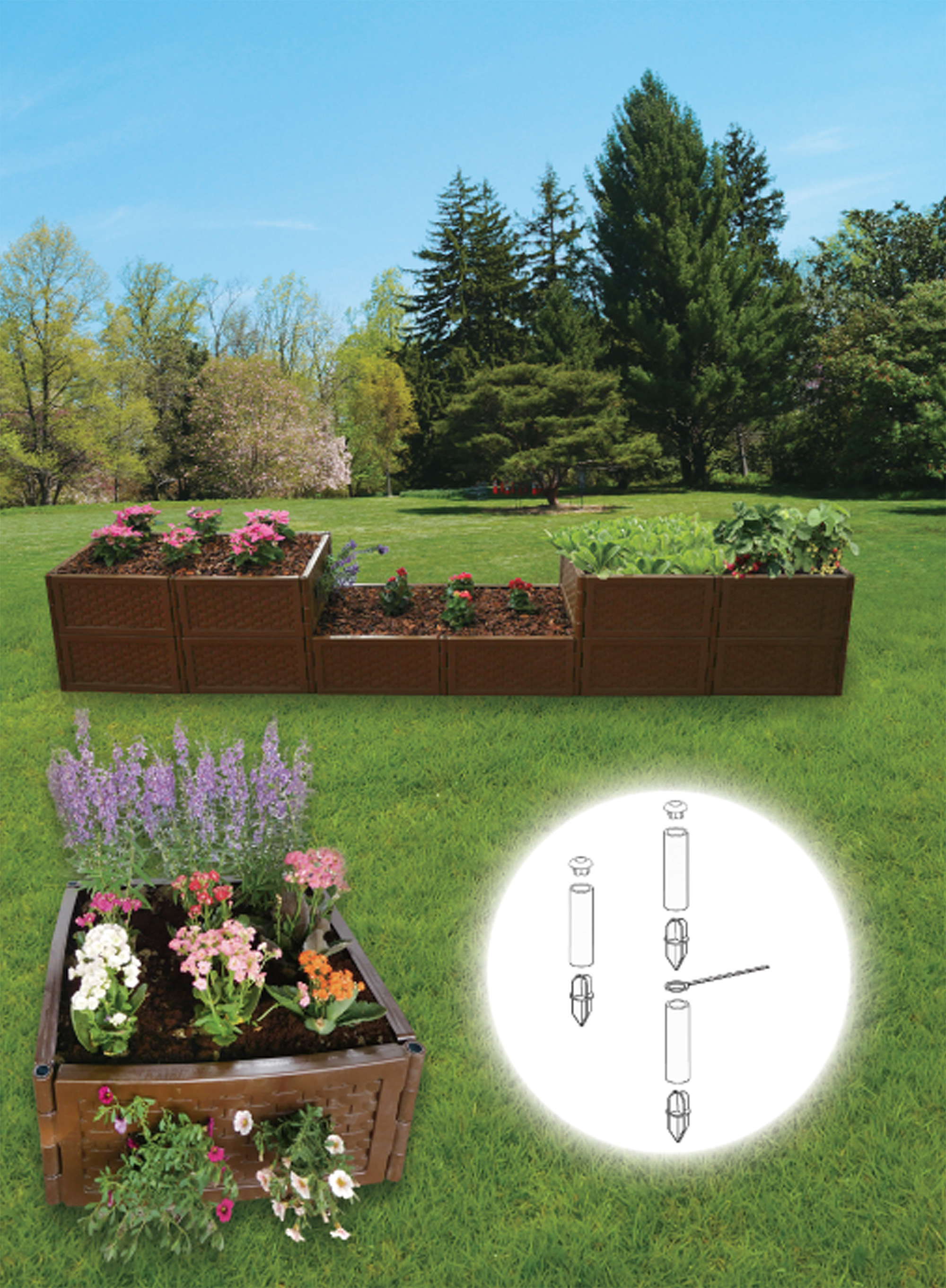 Zenport Raised Garden Bed F-580 Stack and Extend