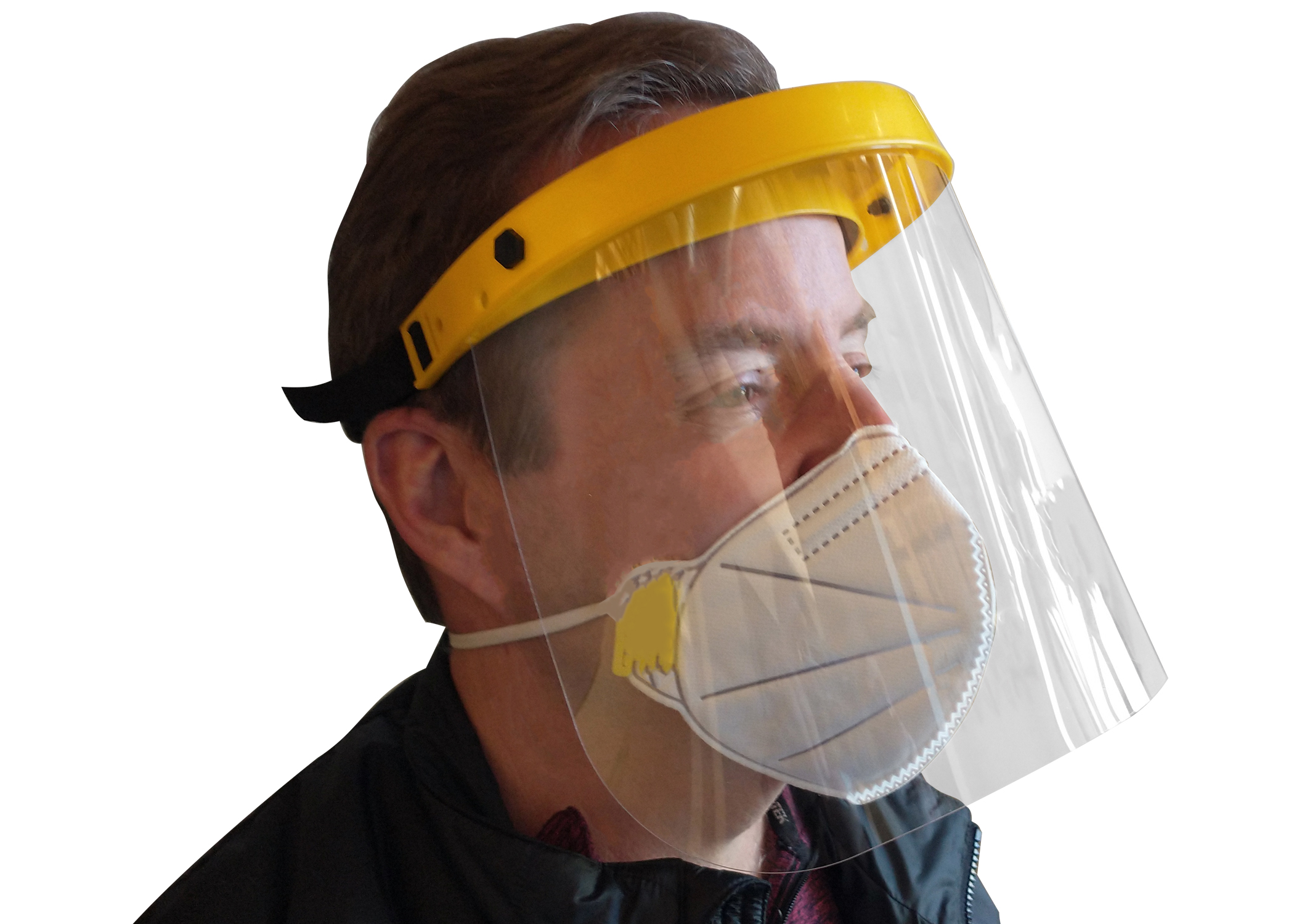 Zenport Face Shield FS802 Adjustable Clear Visor Face Shield, Protective Face Wear, Helps With COVID-19 Spread