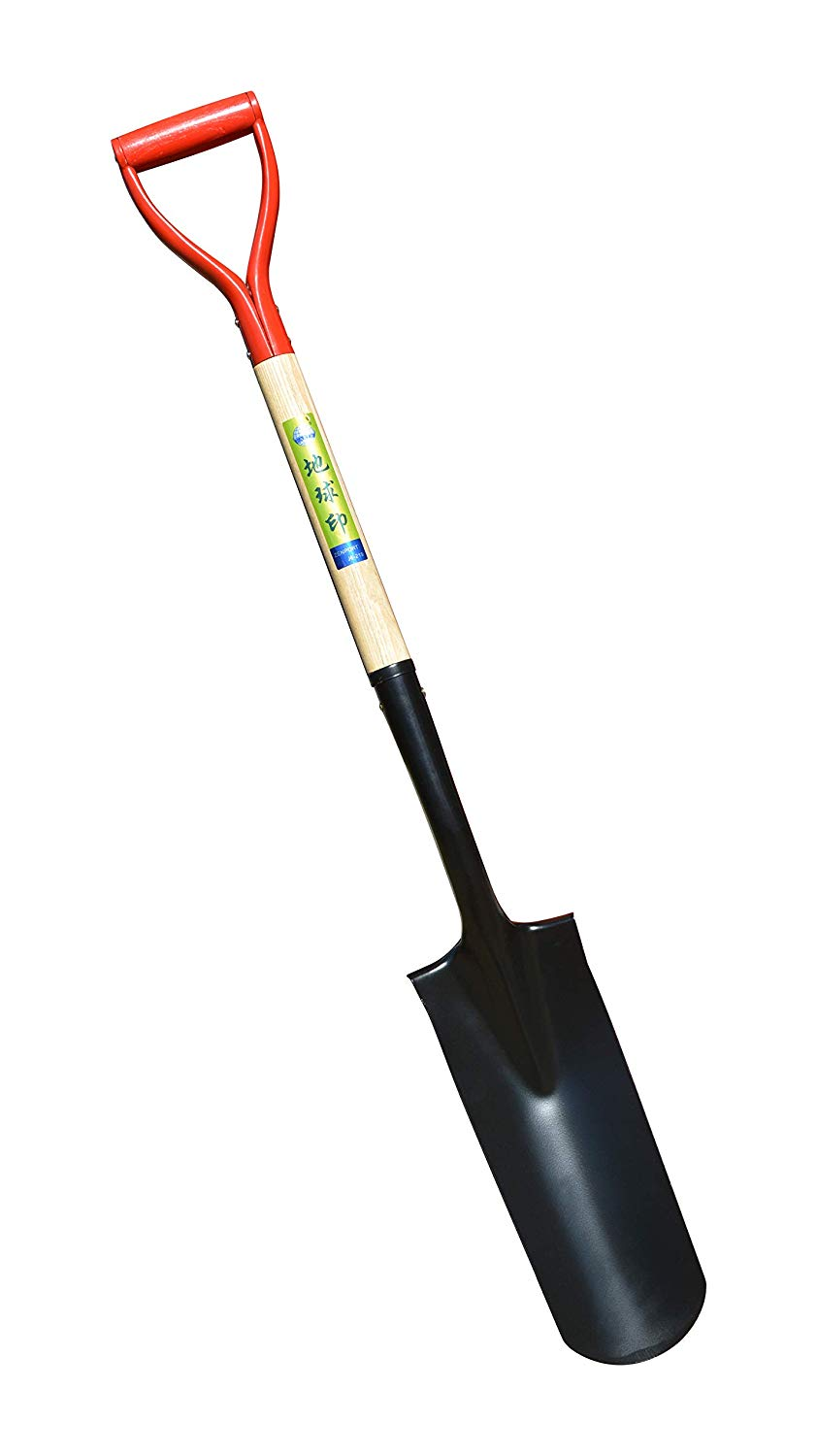 Zenport Irrigation Shovel J6-219 with 14.5-inch Spade Blade, Wood Handle