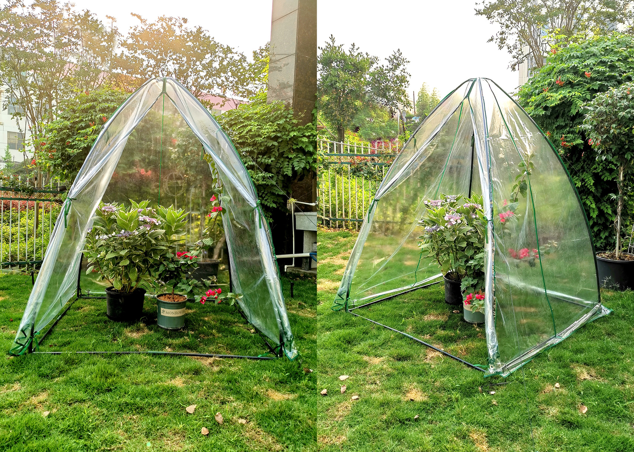 Winter Garden Tent SH3287 Steel Frame, Transparent Cover, 55.1 x 55.1 x 70.9-inches