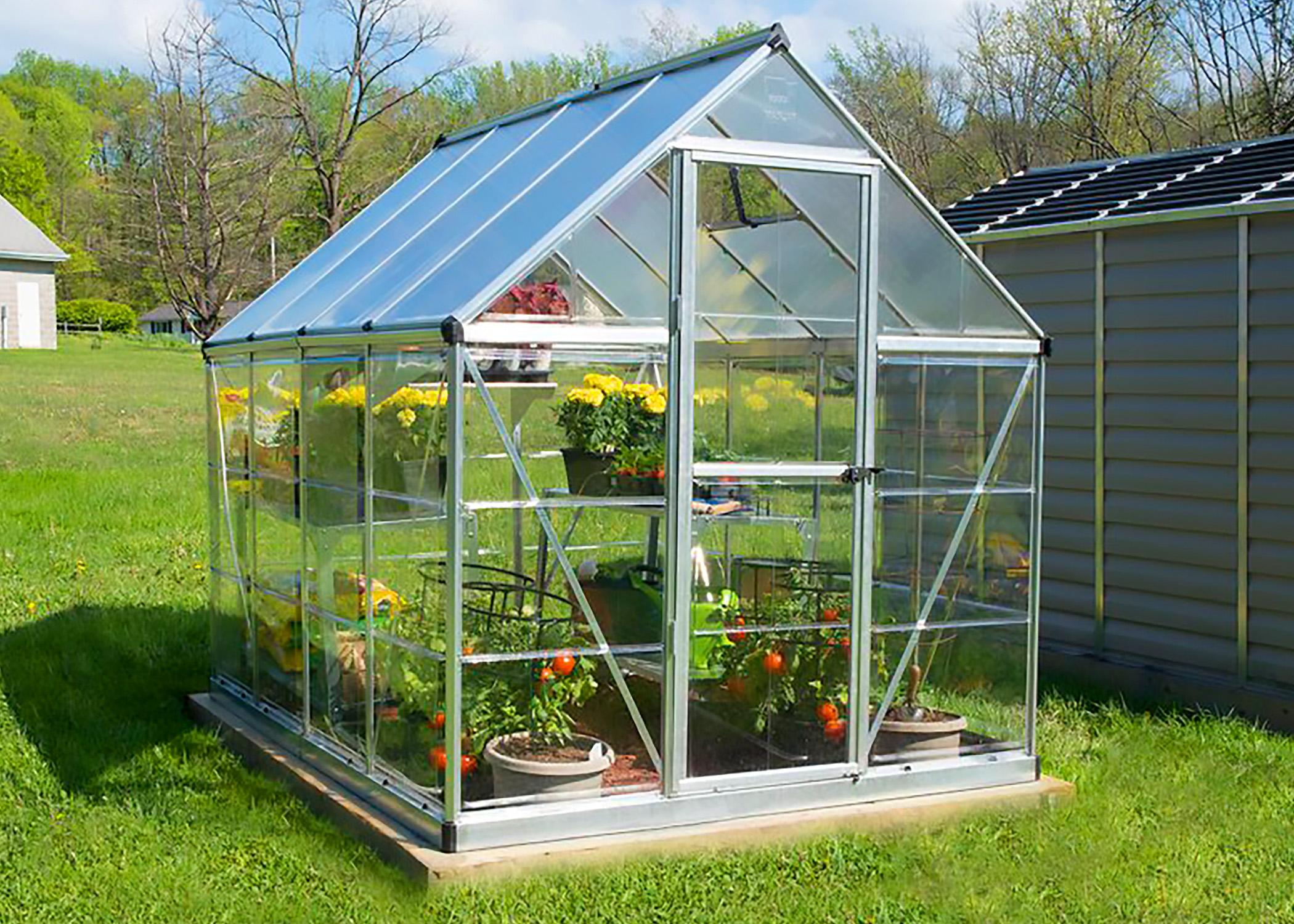 Zenport Walk-In Greenhouse SH7901 (L) 103 X (W) 78 X (H) 81 Inch Aluminum Frame