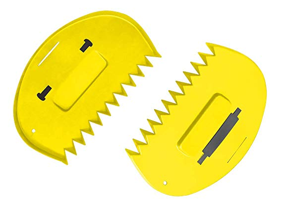 Zenport Leaf Scoop GA815 for Small Piles of Leaves, Bright Yellow