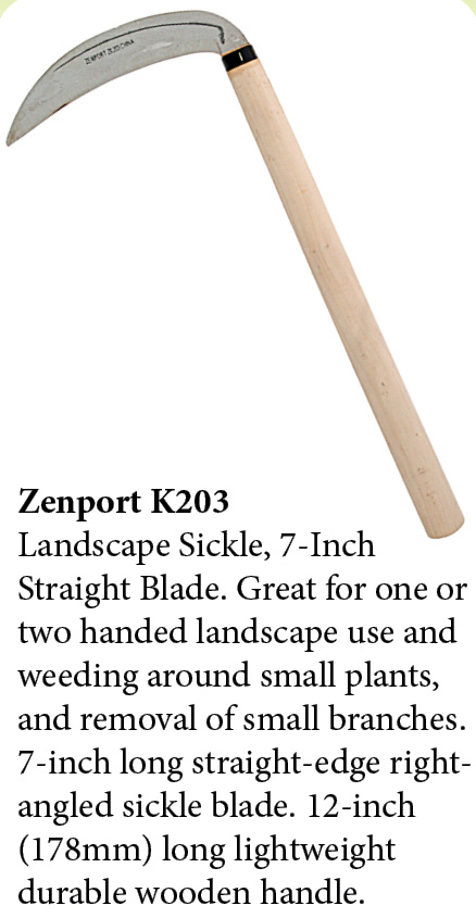 Zenport Sickle K203 Landscape Sickle Kama Sythe, 7-Inch Straight Clearing Blade