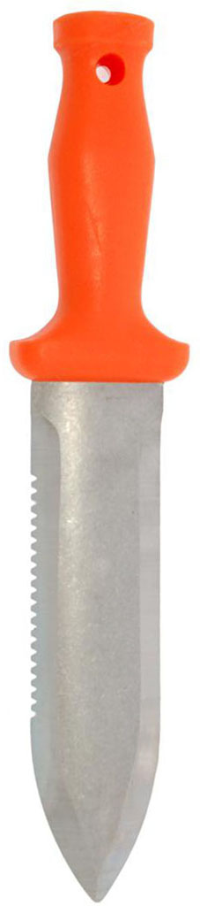 Zenport Garden ZenBori Soil Knife K245 Soil Knife with 6-Inch Stainless Steel Serrated Blade