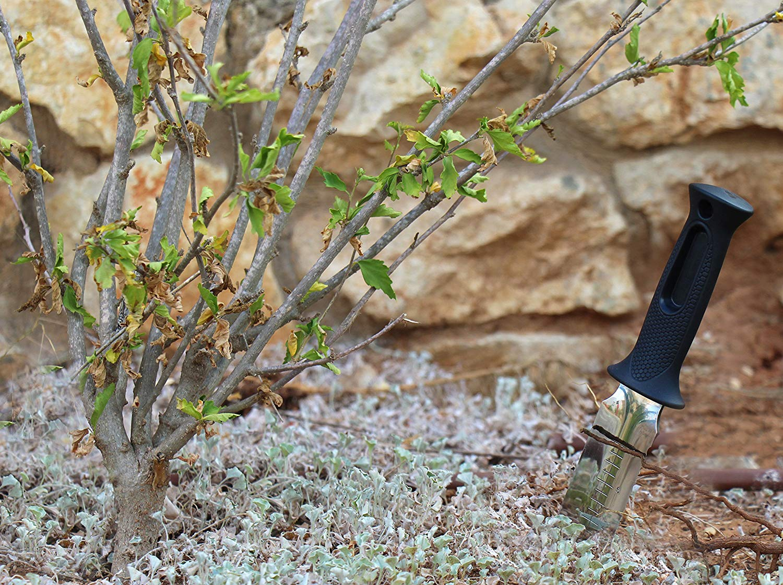 Zenport Garden ZenBori Soil Knife K247 Soil Knife With Sheath And 6-Inch Stainless Steel Serrated Blad