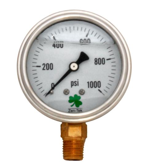 Pressure Gauge LPG1000 Liquid Glycerin Filled Pressure Gauge 0-1000 Psi