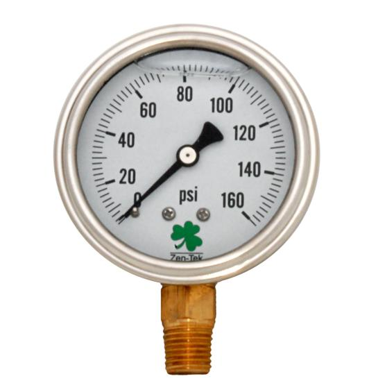Pressure Gauge LPG160 Liquid Glycerin Filled Pressure Gauge, 0-160 Psi