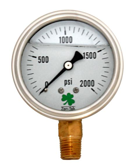Pressure Gauge LPG2000 Liquid Glycerin Filled Pressure Gauge 0-2000 Psi