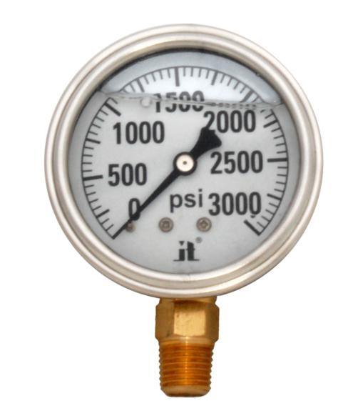 Pressure Gauge LPG3000 Liquid Glycerin Filled Pressure Gauge 0-3000 Psi