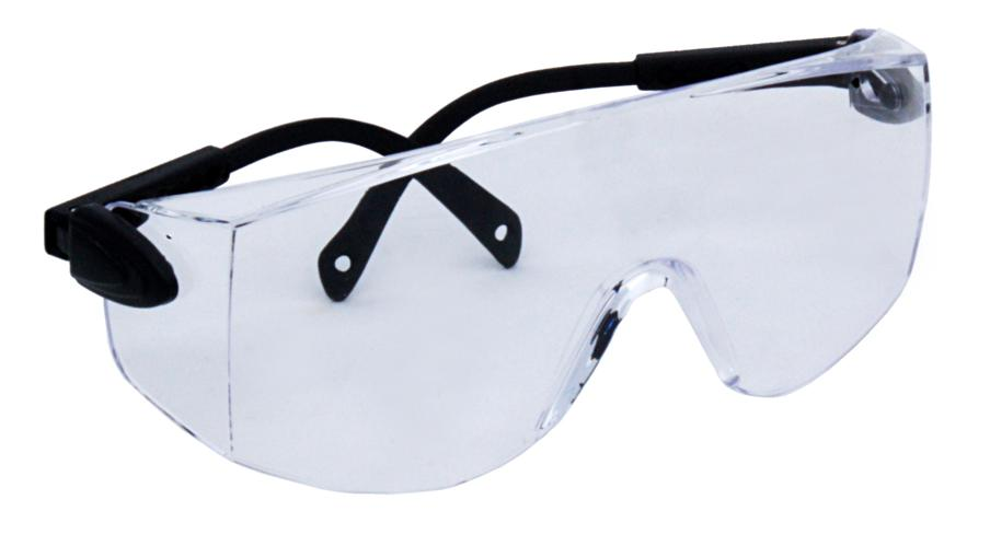 Zenport Safety Glasses SG2626 Clear Adjustable Temples, UV Coating, Eye Protection